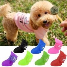 Creative  Soft Waterproof Dog Boots Protective PVC Pet Rain Shoes Booties S/M DS