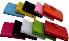 Colorful faux Leather credit card / business card Holder - wallet case