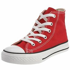 Converse Chuck Taylor Red White Youth Boy Girl Hi Kids Canvas Shoes Size 10.5-3