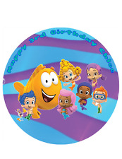 "Bubble Guppies Personalised Cake Topper A4/8"" circle Wafer/Icing sheet"