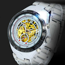 Automatic Mechanical Skeleton Sport Watch Mens Casual Hollow Wristwatches AU New