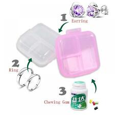 Organizer Storage Container Double Layer Case Jewelry Pill Box