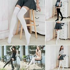Stockings Over Knee Thigh High Black White Skinny Stockings Sexy Stocking