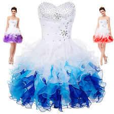 Short Mini Cocktail Party Homecoming Evening Formal Bridesmaid Prom Tutu Dress