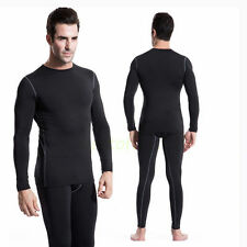 Mens Athletic Drying Sportswear Compression Tights Suit Base Layer Long-sleeved