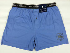 2 NWT POLO RALPH LAUREN Classic Cotton Knit Boxer Shorts Underwear Mens Small