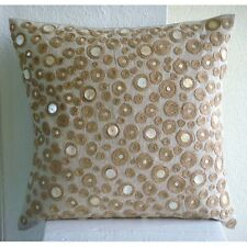 Dotted Jute 45x45 cm Cotton Linen Ecru Throw Cushion Covers - Jute Centric