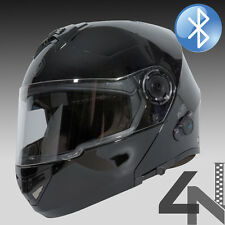 TORC T27 BLUETOOTH GLOSSY BLACK MODULAR FLIP UP FULL FACE MOTORCYCLE HELMET M