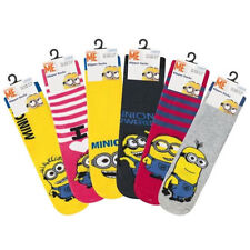 DESPICABLE ME MINIONS Childrens Slipper Socks with Grippers 6 designs, Kids Uk