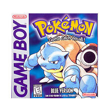 GB Pokemon Blue Version Nintendo Game Boy 1996 NEW SAVE BATTERY Tested Free S&H