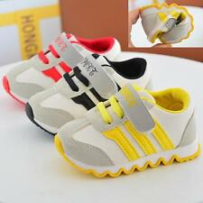 Baby Toddler Athlet Sports Shoes Kids Canvas Casual Flats Running Sneaker Sz 5-9