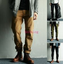 Casual Men Skinny Overalls Long Trousers Slim Fit Pencil pants Retro Fashion New