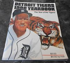 1986 DETROIT TIGERS YEARBOOK EX! feat. MORRIS/GIBSON/WHITAKER/TRAMMELL/KALINE