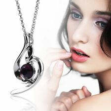 Lucky Angel Fashion Soft Crystal Women Personality Pendant Necklace Chain SM