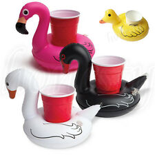 Duck Swan Inflatable Drink Can Beer Holder Swimming Pool Toy Boat Home Decor New