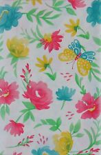 Butterflies among Easter Flowers Vinyl Flannel Back Tablecloth Various Sizes