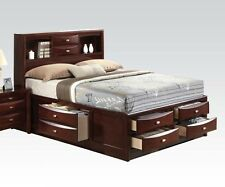 Modern Espresso Finish 1 Pc Eastern King Full Queen Size Bed Bedroom Furniture