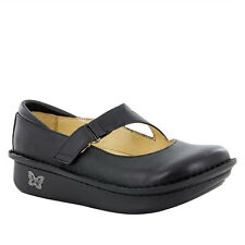 Alegria DAYNA 601 Womens Black Napa Leather Slip On Comfort Mary Jane Clog Shoes