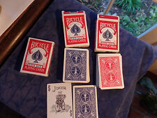 1 NEW Vintage Bicycle 808 Rider Back Playing Cards  Air Cushion 2 USED LOT OF 3