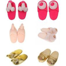 1 Pair New Willy Penis Boob Slippers Adult Naughty Gift Hen Party Funny Gift