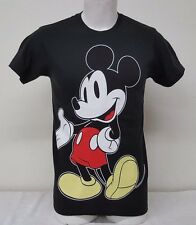 Disney Mickey Mouse Front/Back Printing Black Color Men's Short Sleeve T-Shirt