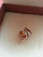 GENUINE AUTHENTIC PANDORA CHAMPAGNE OVAL LIGHTS SILVER CHARM USED