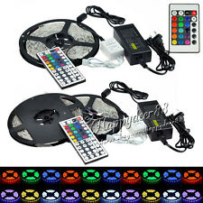 LED Strip Lights 5M SMD 3528 5050 RGB White 300LEDs Flexible 12V Power Supply