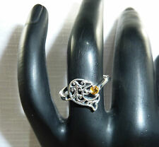 "Solid 925 Sterling Silver Dolphin, ""Gemstone"" Ring"