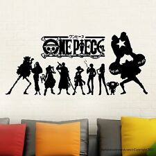 One piece Japanese Anime Wall Decal Stickers Decor Modern Stickers Vinyl Decal