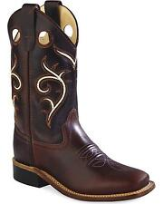 Old West Boys' Swirl Western Cowboy Boot Square Toe - BSC1807