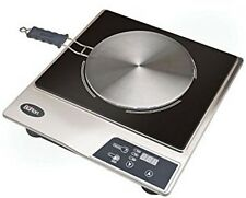 Max Burton 6050 Induction Interface Disk Cooktop Stainless Steel & Black