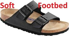 BIRKENSTOCK ARIZONA Black ALL SIZES New Gizeh Black Soft Footbed  35 - 46 647