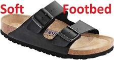 BIRKENSTOCK ARIZONA Black ALL SIZES New  Gizeh  Black Soft Footbed 35 - 46 645