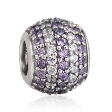 authentic sterling-silver Mixed CZ Pave Ball Bead with AAA Cubic Zirconia Charm