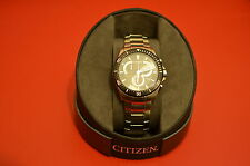 Citizen Mens Eco-Drive Black Dial Chronograph Watch BRAND NEW AT2358-51E