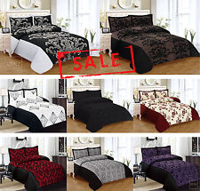 New 3pcs Faux Silk Quilted Bedspread 21 vivid Colours Double & King Size