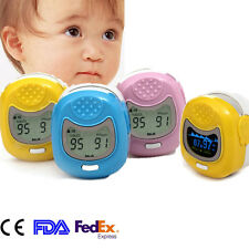 CONTEC Pediatric/Infant fingertip LCD/OLED PR SPO2 Oximeter with Lanyard , Pouch