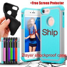 For iPhone 7 7 plus Case Silicone Rubber Heavy duty Shockproof Hybrid Cover Skin
