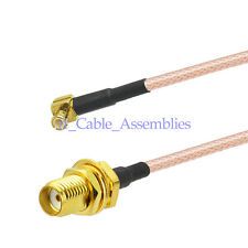 MCX Male RA to SMA female WiFi Antenna Extension Cable Pigtail RG316 2- 24 Inch