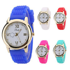 Women Candy Color Silicone Strap Round Dial Quartz Casual Wrist Watch Popular