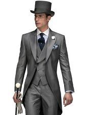 WEDDING MEN'S CHARCOAL GREY MORNING TAIL SUIT IDEAL FOR ASCOT/WEDDING/EVENT/SALE