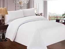 White Solid/Stripes Bedding Item 1000TC EgyptianCotton Fitted/Flat/Duvet