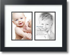 """ArtToFrames Collage Mat Picture Photo Frame 2 5x7"""" Openings in Satin Black 35"""