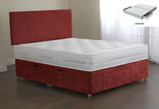 Sweet Dreams Amber Bed Base 4FT Small Double 2 Drw Sprung Edge Top Terracotta