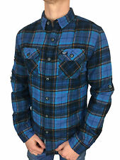 SALE £38.50 Superdry Mens Refined Lumberjack Séance Blue Check Shirt in Size XXL