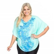 Ladies Autograph Spearmint Poncho Batwing Top Plus Sizes 14 & 16 RRP$39.99