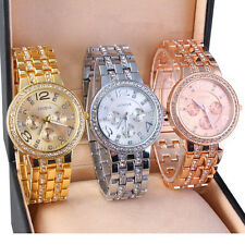 New Fashion Women Quartz Watch Gold Silver Stainless Steel Rhinestone Wristwatch