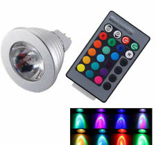 12V MR16 85V-265V E14/GU10 3W 16 Color Change RGB LED SpotLight Bulb Remote Lamp