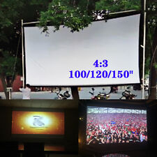 100/120/150inch 4:3 Super HD Movie Portable Projection Screen Theater H215 New