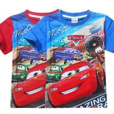 New Cars Mcqueen Boys Children Kids Summer Short T-shirt Tee Top Shirt